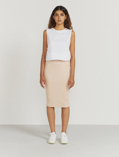 women's Organic cotton ribbed tube skirt