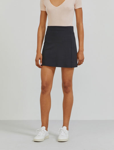 stretch jersey mini skirt