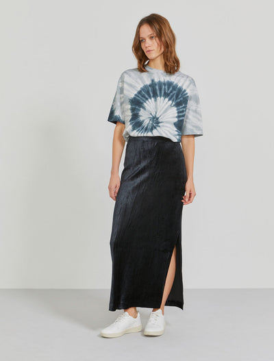 Women's MicroModal velour side-split skirt