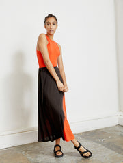 Women's Tencel dip-dye maxi skirt