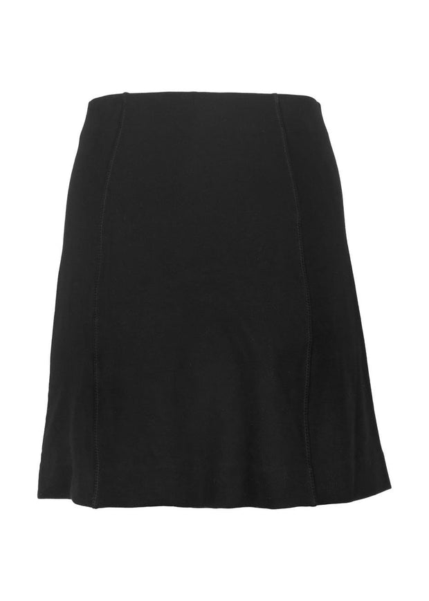 Compact Org Cotton Panelled Mini Skirt