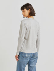 Women's Organic cotton classic fit long sleeve grey top
