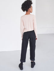 Organic cotton classic fit long-sleeve top