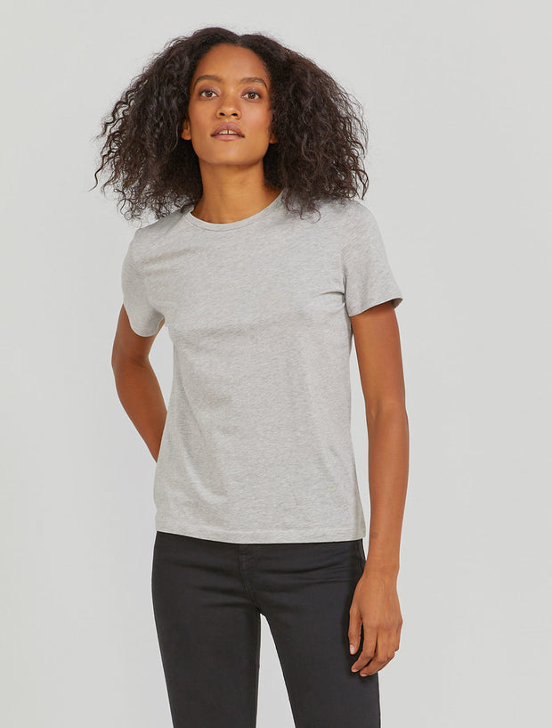 Women's Organic cotton classic fit grey T shirt
