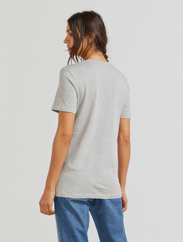 Women's Organic cotton boy-fit grey T-shirt