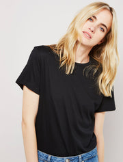 Women's Organic cotton black boy-fit body
