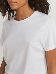 Women's Organic cotton white boy fit body