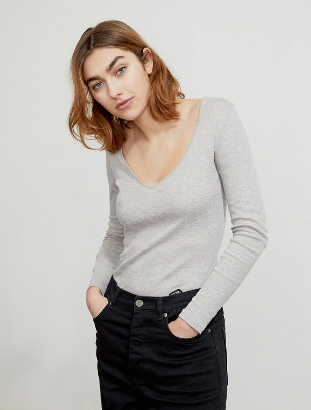 women's Organic cotton ribbed long-sleeve top