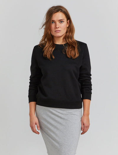 Organic cotton women's black sweatshirt