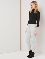 Organic cotton tapered-leg sweatpants