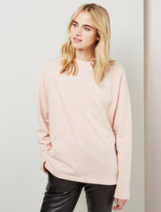 women's Organic cotton oversize long sleeve top