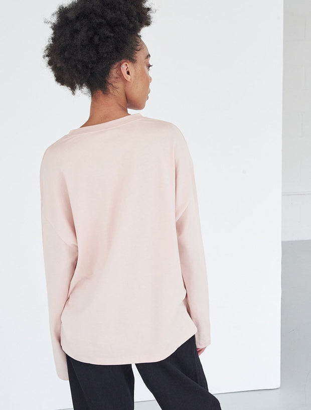 Organic cotton oversize long-sleeve top