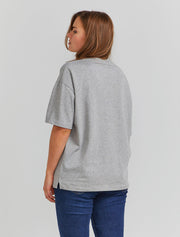 women's Organic cotton oversized grey T-shirt