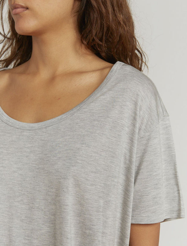 Tencel™ slouchy scoop-neck T-shirt