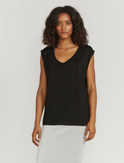 Women's Tencel slouchy scoop neck vest