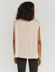 Women's Tencel slouchy scoop-neck vest