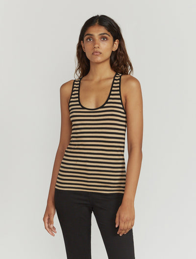 striped classic fit vest