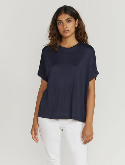 Split Back Short-Sleeve T-Shirt
