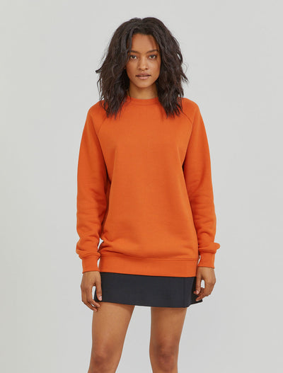 organic cotton funnel neck sweatshirt