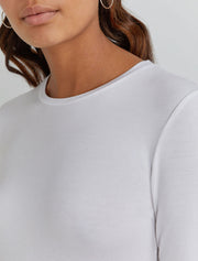 Women's Tencel fitted long sleeve T shirt