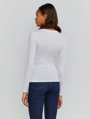 Women's Tencel fitted long-sleeve T-shirt