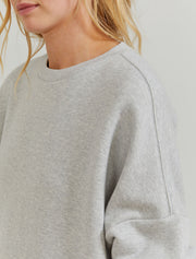 Organic cotton jumbo women's sweatshirt