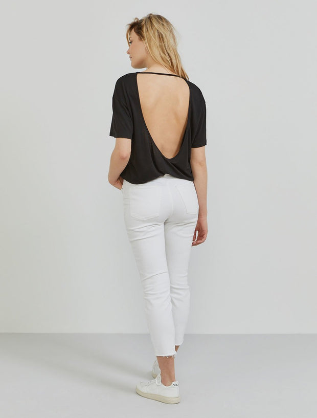 Tencel™ Open-Back Boy-Fit Top