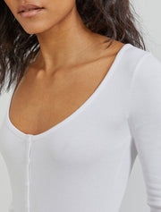 Organic cotton long-sleeved ribbed body