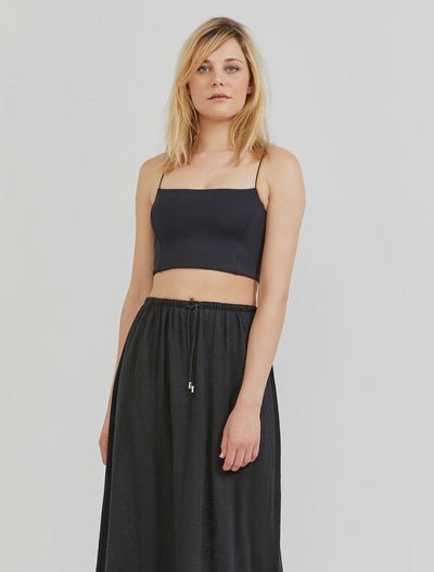 Women's Stretch-jersey crop top