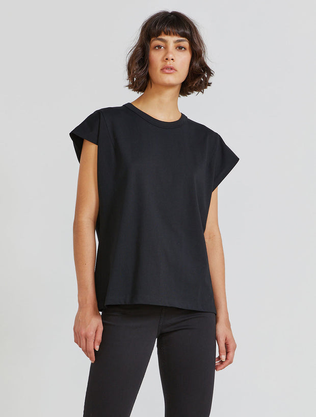 Organic cotton '80s-shoulder T-shirt