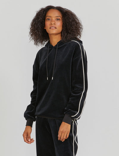 Organic cotton velour women's hoodie