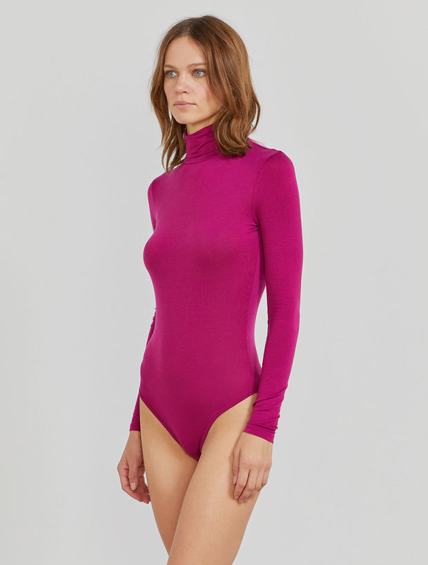 Women's Tencel jersey roll neck body