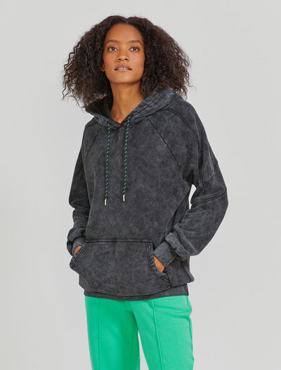 Women's Organic cotton black hoodie