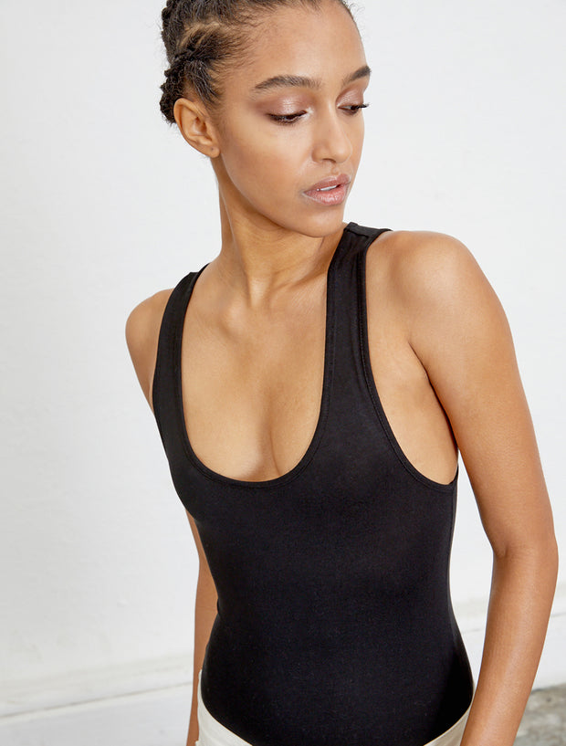 Women's Tencel elastane sleeveless body