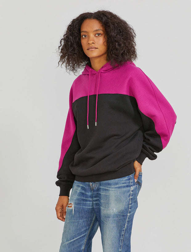 Women's Organic cotton colour block hoodie