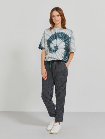 Organic cotton women's oversized tie dye T shirt