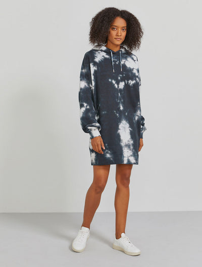 Organic cotton women's oversized tie-dye hoodie