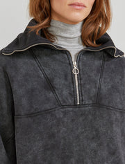 Organic cotton women's black pullover