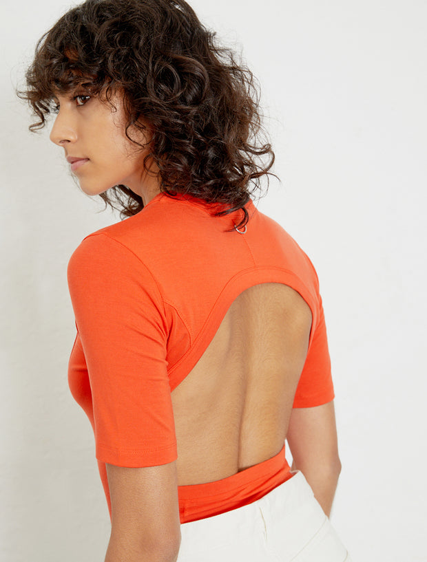 Women's Open back Tencel™ short sleeve body