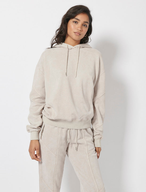 Garment Dyed Panelled Hoodie