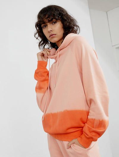 Women's Organic cotton dip dye boy fit hoodie