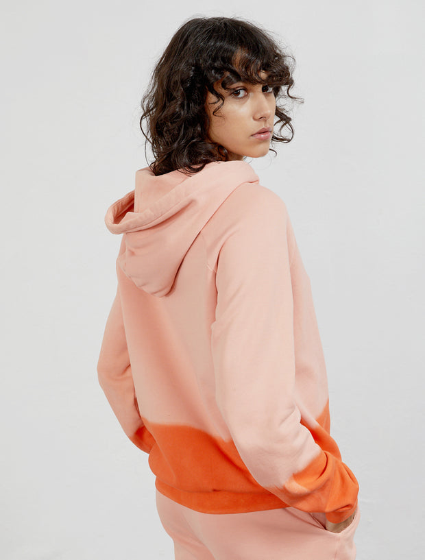 Women's Organic cotton dip-dye boy-fit hoodie