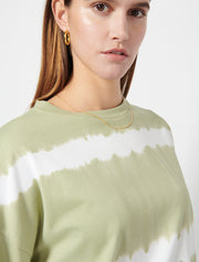 Striped Tie Dye Long Sleeve Oversize T-shirt
