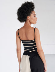 Organic Cotton Ribbed Striped Cami Top