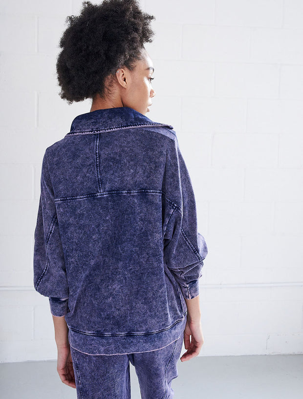 Organic Cotton Stonewash Pop-Over