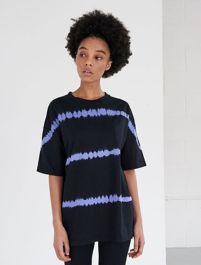 organic cotton tie dye oversized t shirt