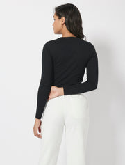 Organic Cotton Pointelle Top