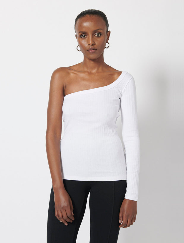 Organic Cotton Rib One Sleeve Top
