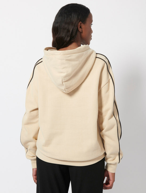 Organic Cotton Peachy Sweat Double Line Hoodie