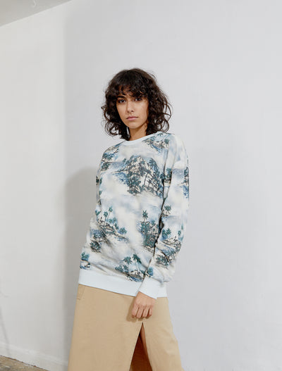 Women's Organic cotton printed sweatshirt